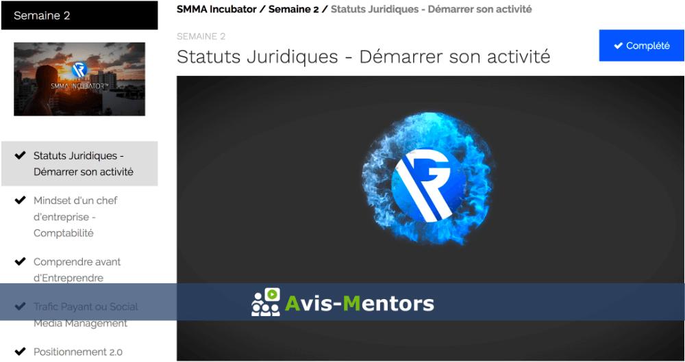 semaine 2 SMMA Incubator
