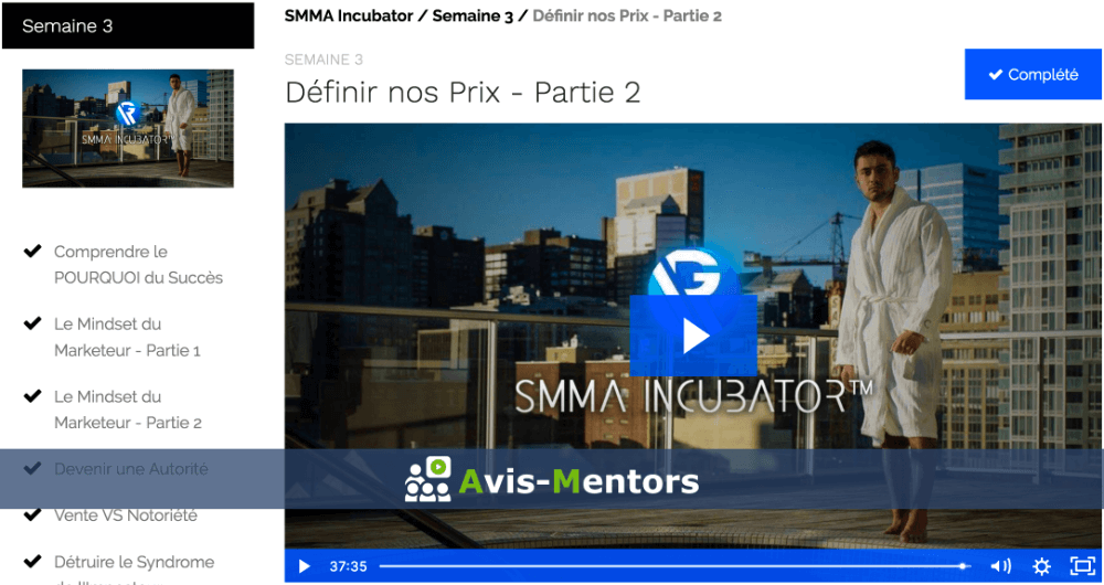semaine 3 SMMA Incubator